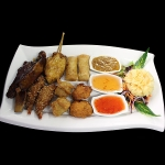 1 Combination of chicken satay, spring rolls, prawns in special coating, thai fish cakes, crispy wontons and spare ribs. (for 2 person upwards)