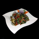 10. Steamed Mussels with thai herbs and chillies