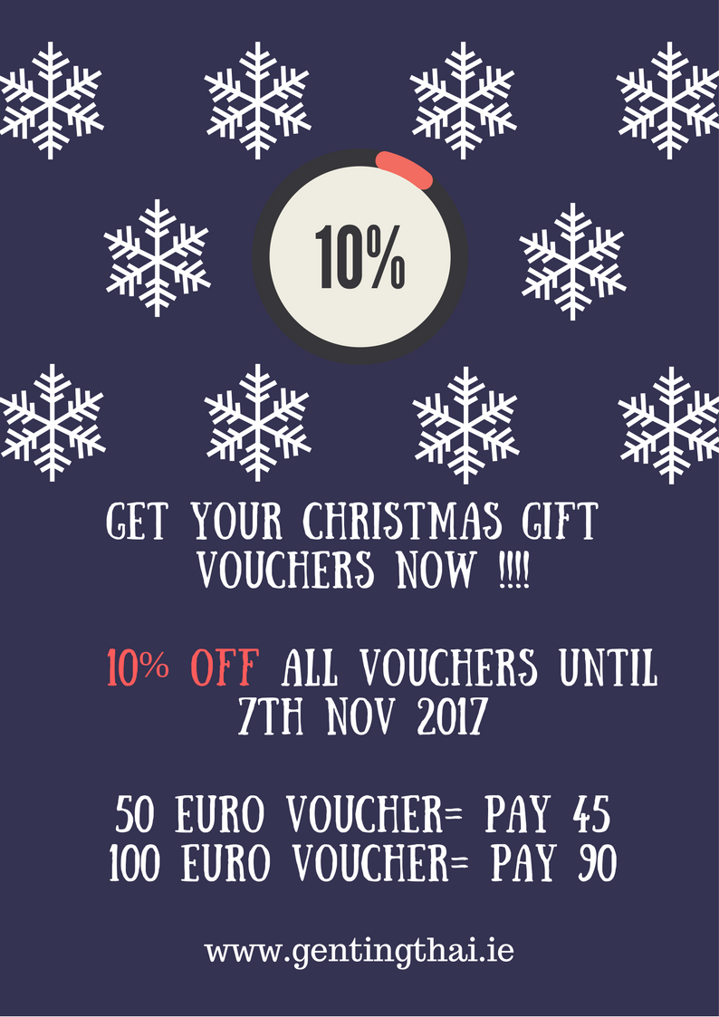 Christmas Gift Vouchers now available to purchase in our restaurant