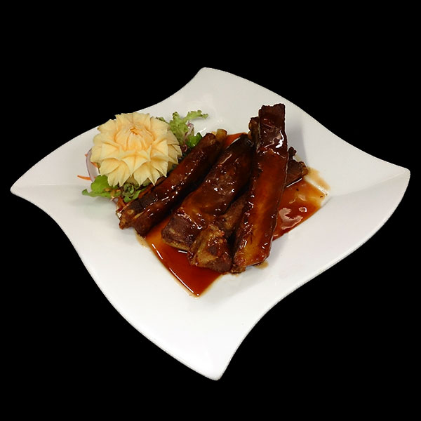 5. Seekrong Mu - Marinated spare ribs served with plum sauce.