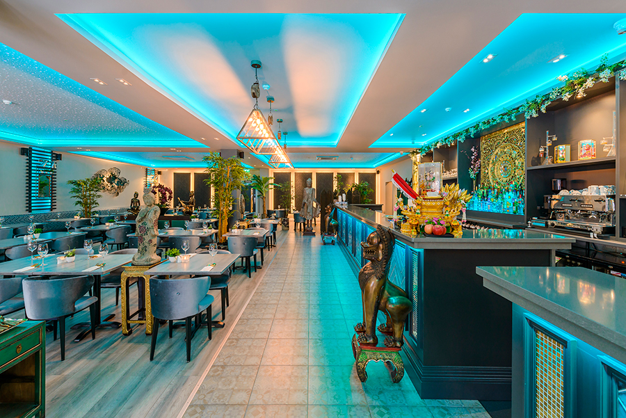 Enjoy a dining experience alone or with partners, family or friends in our bright, spacious yet cosy, mood-lit restaurant, where we have ensured a modern design is blended with an authentic ethnicity in the decor.